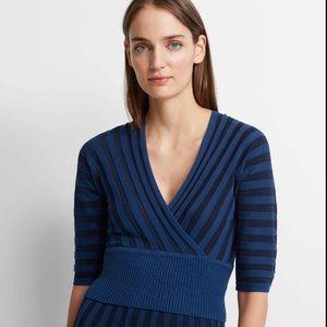 Club Monaco Navy Yakini Knit Sweater S NWT